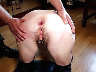 anal private fingering tube
